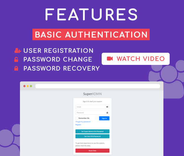 basic authentication super admin user management system